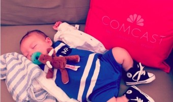 Boomer Phelps Needs his Sleep After Being Daddy's Biggest Fan