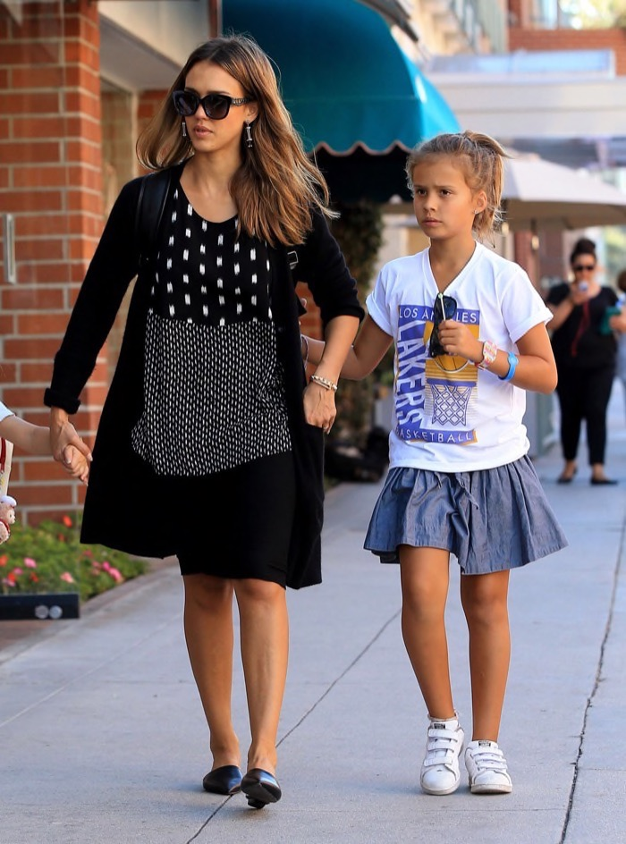 Jessica Alba Enjoys a Day With Honor & Haven
