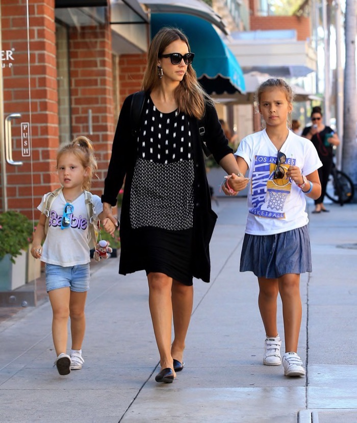 Jessica Alba Enjoys a Day With Honor & Haven | Celeb Baby ...