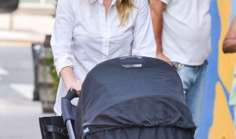 Nicky Hilton Strolls With Baby Lily