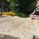 Neil Patrick Harris' Twins Gideon And Harper Pose On Their Meditation Rocks