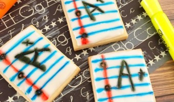 Welcome Back-To-School Notebook Cookies