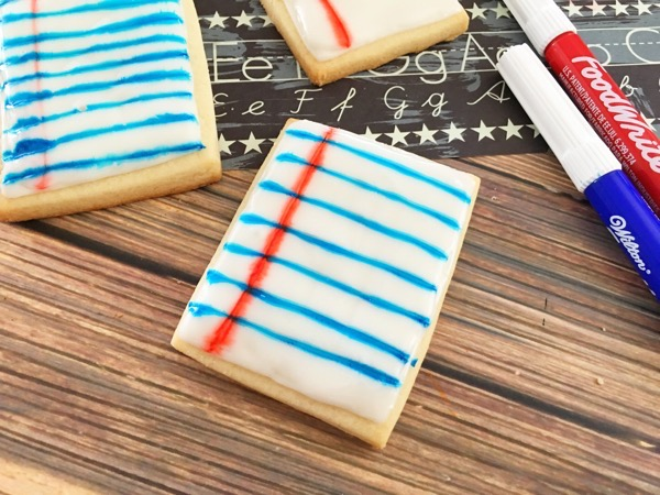 Welcome Back-To-School Notebook Cookies