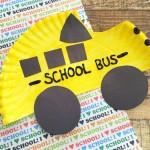 Back-to-School: Yellow School Bus Craft