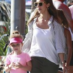 Jessica Alba And Cash Warren Shopping With Their Girls