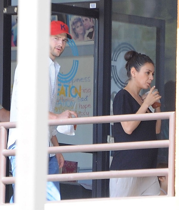 Pregnant Mila Kunis And Ashton Kutcher Take Baby Wyatt To Dance Class