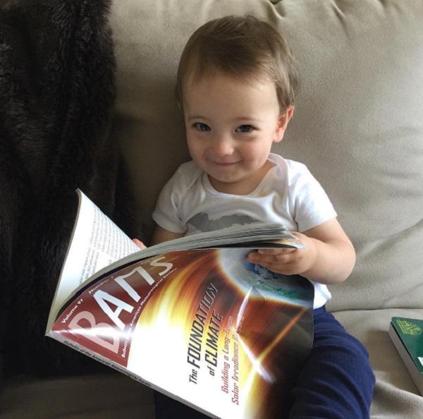Ginger Zee's Baby Adrian Benjamin Already Studying Meteorology!