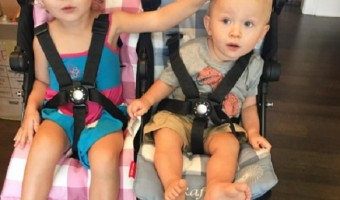 Alec And Hilaria Baldwin's Babies, Rafe And Carmen, Are Ready For A Stroll