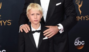Liev Schreiber Takes Son Sasha To The Emmy's