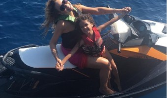 Mariah Carey Soaks Up the Sun in the Greek Islands With Monroe & Moroccan