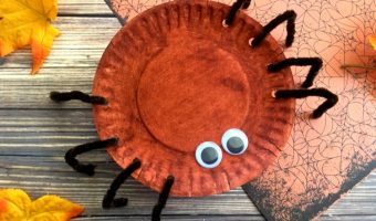 Simple Halloween Spider Plate Craft For Kids