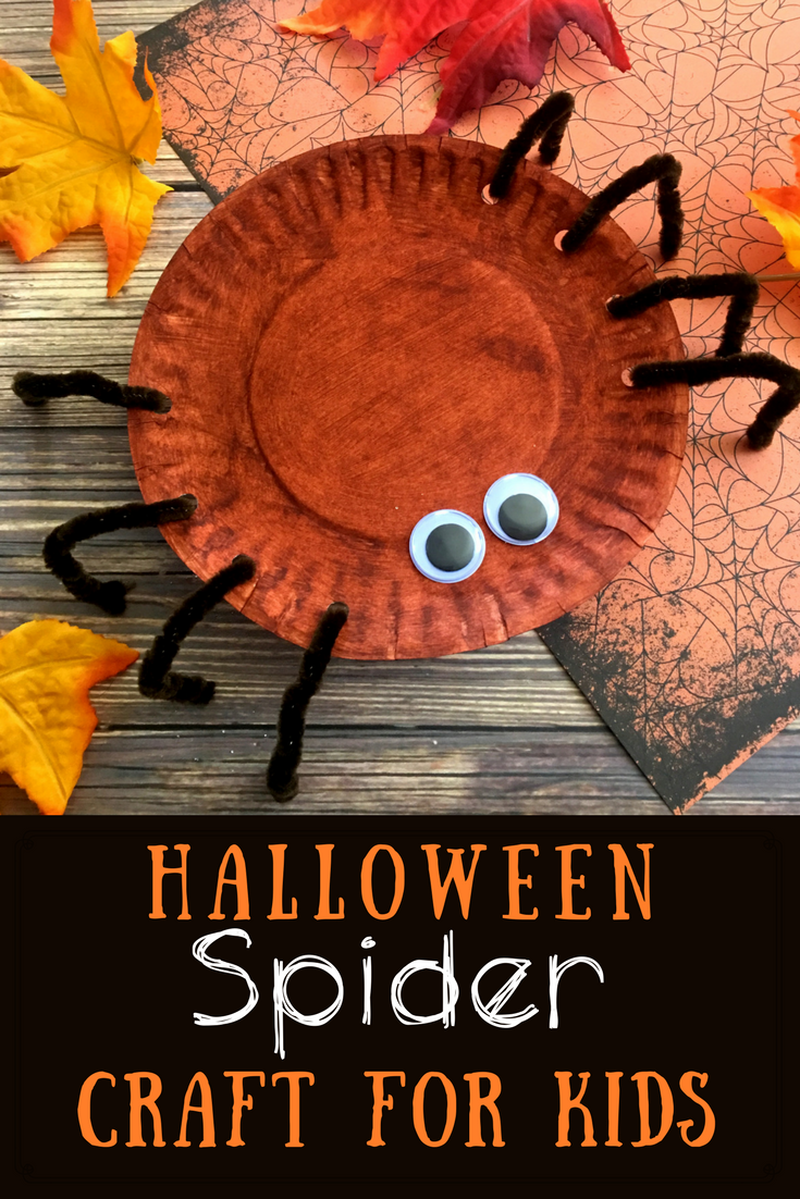 Simple Halloween Spider Plate Craft For Kids | Celeb Baby ...