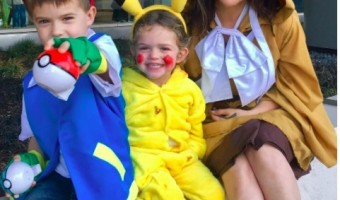 Alyssa Milano & Family's Pokemon Halloween
