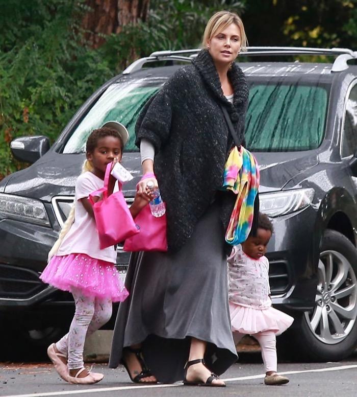 Charlize Theron Takes ... Charlize Theron Children