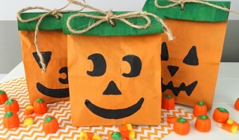 Make Your Own Halloween Pumpkin Treat Bag