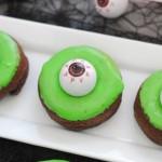 Halloween Monster Eye Pumpkin Donut
