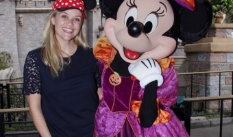 Reese Witherspoon & Family Celebrate Halloween Time at Disneyland