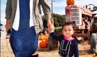 Tamera Mowry Takes Ariah to the Pumpkin Patch