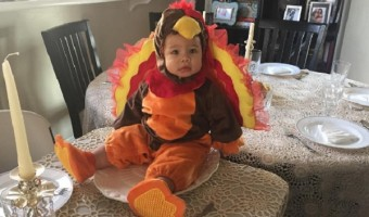 'Dancing With The Stars' Allison Holker's Son Maddox Is One Cute Turkey!