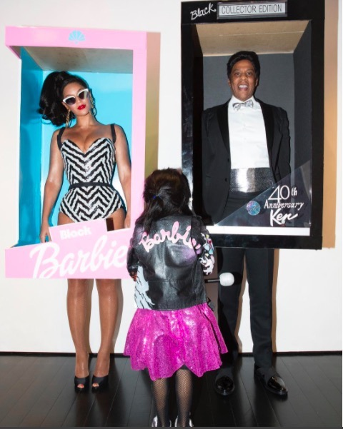 Beyonce & Family Become 'Black' Barbie's For Halloween