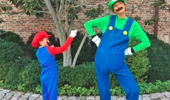 Gisele Bündchen & Son Benjamin are the Super Mario Bros.