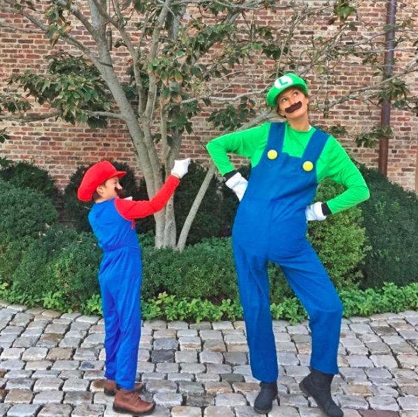 Gisele Bündchen & Son Benjamin are the Super Mario Bros.