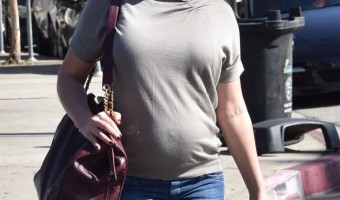 Pregnant Katherine Heigl Grabs Lunch