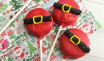 Make Your Own Mint Oreo Santa Pops