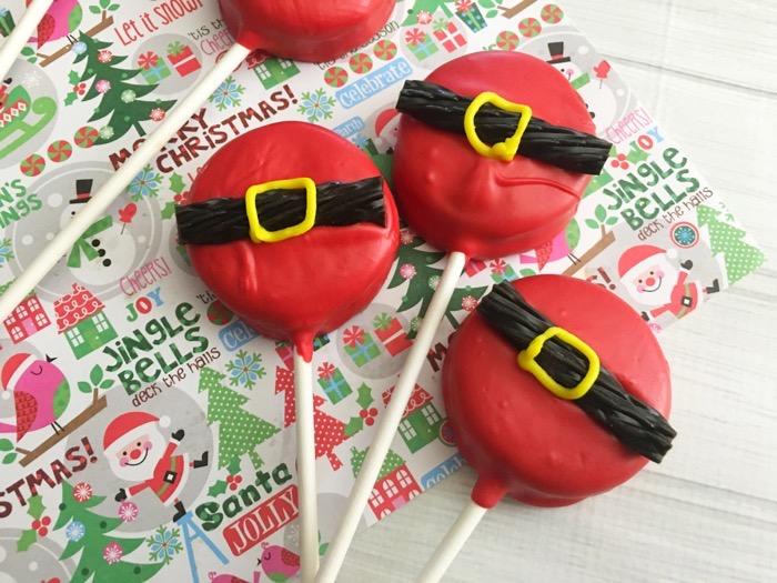 Make Your Own Santa Pops