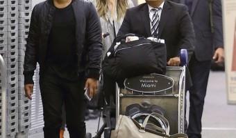Chrissy Teigen & John Legend Touch Down With Luna in Miami