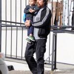 Christian Bale Breakfast's With Son Joseph