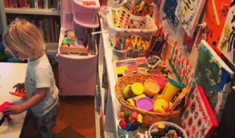 Drew Barrymore's Daughters' Art Room Is Impressive