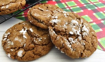 Gingerbread Crinkle Cookies For the Holidays
