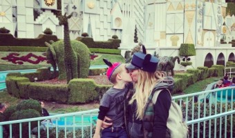 Hilary Duff Visits Disneyland With Luca