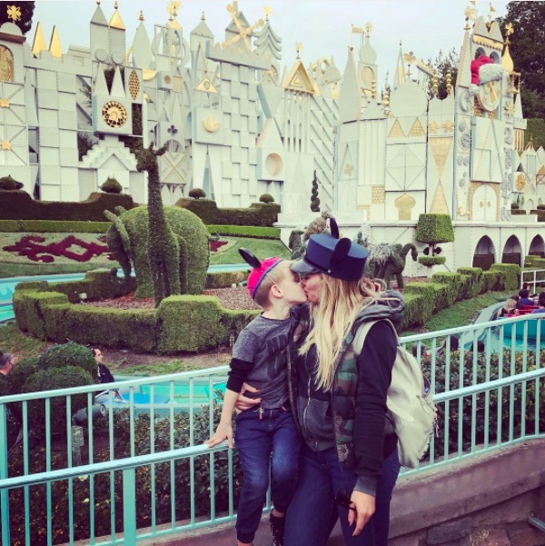 Hilary Duff Takes Luca to Disneyland