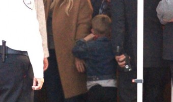 Hilary Duff & Mike Comrie Take Luca to Visit Santa