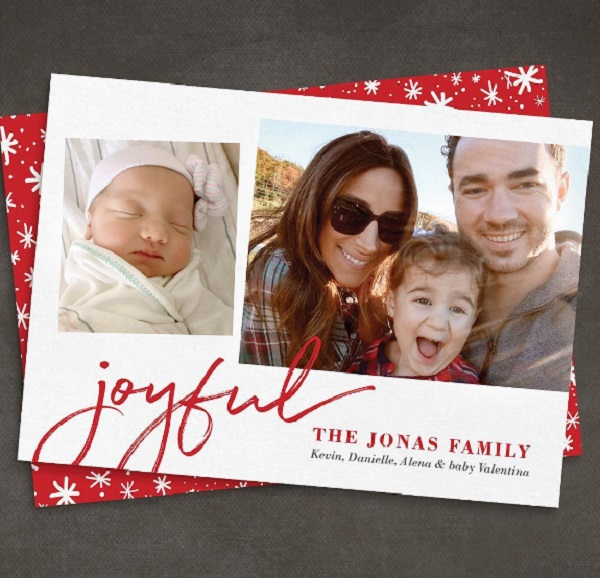 Kevin Jonas Shares Beautiful Family Christmas Card Wife Danielle And Daughters