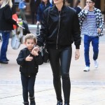 Lily Aldridge & Caleb Followill Visit  Santa With Dixie
