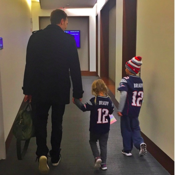 Tom Brady Takes his Kids to Work