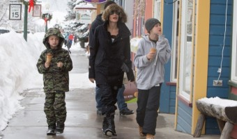 Angelina Jolie Vacations in Colorado with Kids