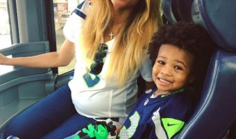 Pregnant Ciara shows Off Her Growing Baby Bump In Seattle Seahawks Jersey