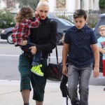 Gwen Stefani Heads to Church With Sons