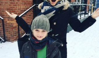 Naomi Watts And Kai Have Fun In The Snow