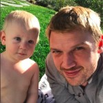 Nick Carter Soaks up the Sun With Odin