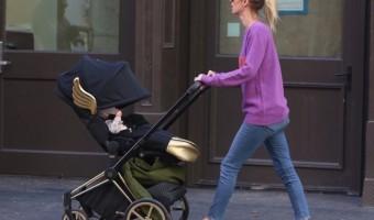 Nicky Hilton Strolls With Lily