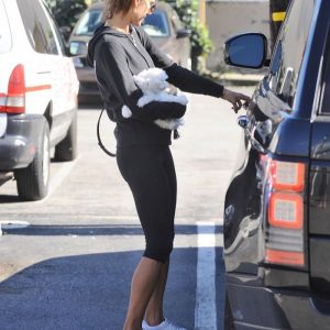 Alessandra Ambrosio Runs Errands With Noah