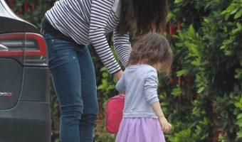 Mila Kunis Takes Wyatt to Daycare