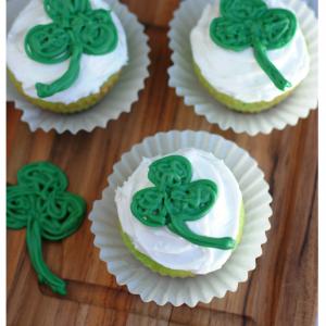 Saint Patrick's Day Shamrock Cupcakes