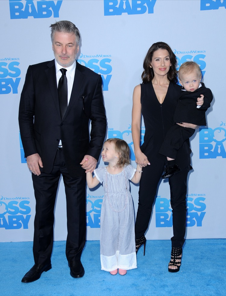 Alec Baldwin & Family Attend Boss Baby Premiere   Celeb ...