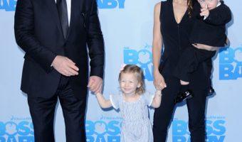 Alec Baldwin & Family Attend Boss Baby Premiere